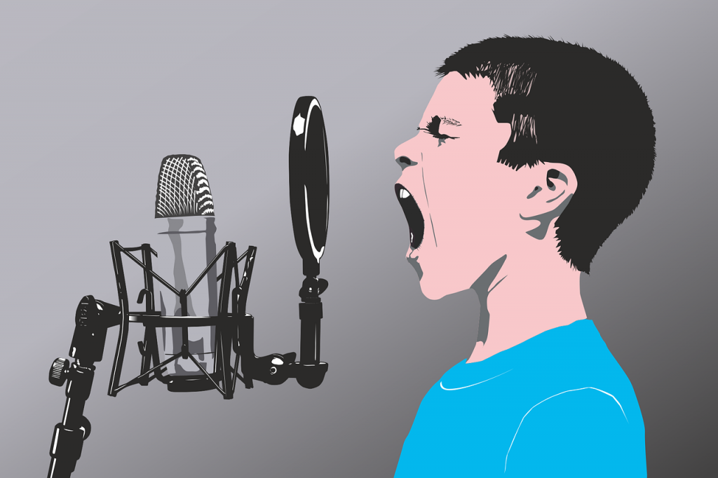 microphone, child, vector