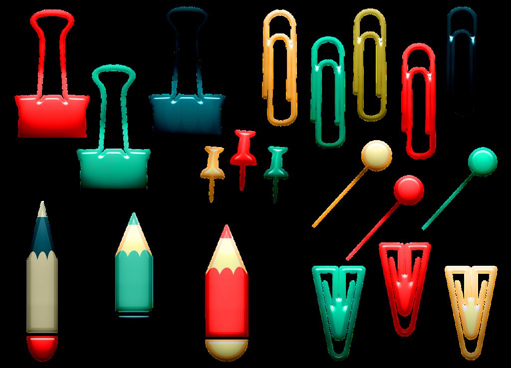 office supplies, school, paper clips